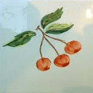 Decortegel Cocina Azahar 13x13 cm Cerezas 1ST
