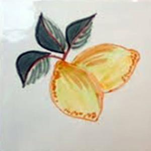 Decortegel Cocina Azahar 13x13 cm Limones 1ST