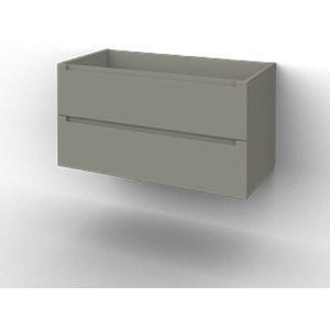 Ben Avenue Onderkast 2 lades 116,5x47,5x52 cm Mat Grijs