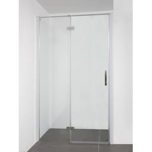 Saqu Galika (Nis)draaideur 90x210 cm vast deel links Aluminium / Helder Glas