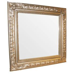 Teak & Living Spiegel Barok 70x70 cm Zilver