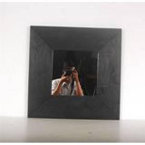 Teak & Living Spiegel zwart 60x60 cm Zwart