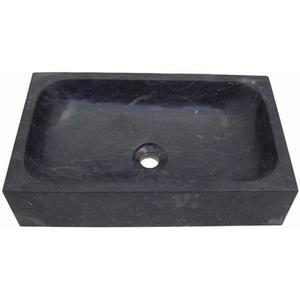 Teak & Living Wasbak 50x40cm hardstenen black