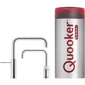 Quooker Nordic Square Twintap Chroom met COMBI+ boiler 3-in-1 kraan