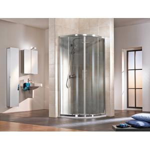 HSK Favorit Nova Douchecabine Kwartrond 80x185 cm Alu Zilver Mat/Helder Glas