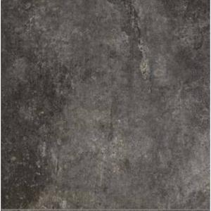 Vloertegel Cerim Artifact 80x80x1 cm Worked Charcoal 1,28 M2