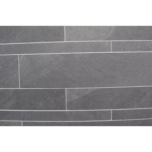 Vloertegel Tebe Ardosia 5/10/15x60x- cm Zwart 1,08M2