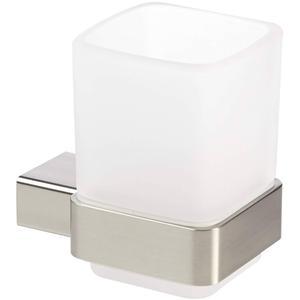 Emco Loft glashouder met glas RVS