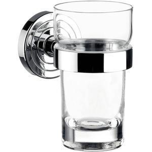 Emco Polo glashouder met kristal glas Chroom