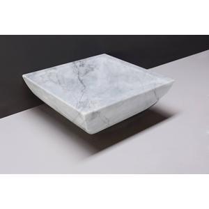 Forzalaqua Siracusa Opzetkom 40x40x15 cm Carrara Marmer Gepolijst