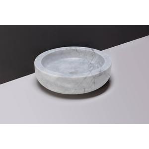 Forzalaqua Verona Opzetkom Ø40x12 cm Carrara Marmer Gepolijst