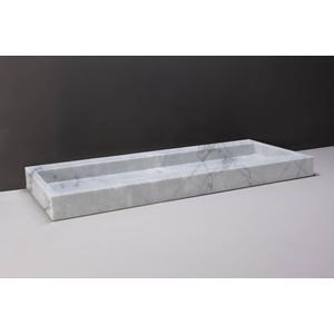 Forzalaqua Palermo Wastafel 120,5x51,5x9 cm 1 kraangat Carrara Marmer Gepolijst