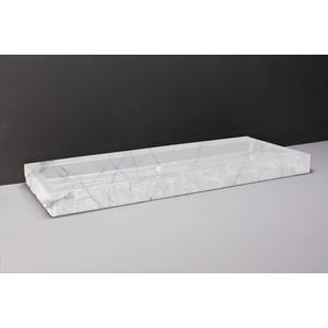 Forzalaqua Palermo wastafel 120,5x51,5x9cm zonder kraangat Carrara Marmer Gepolijst en Gekapt