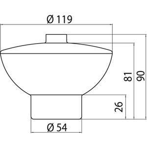Technische tekening, Emco Glasdeel, Opaalglas Voor S1024/26, 102100090