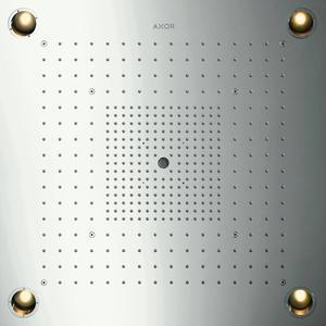 Technische tekening, Hansgrohe Axor Starck showerheaven 72x72 cm. met verlichting Rvs, 10627800