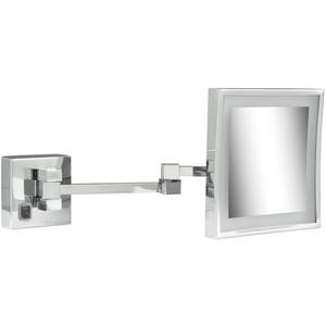 Geesa scheerspiegel 2x arm led 3x vergrotend 205x205 Chroom
