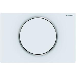 Geberit Sigma 10 drukplaat 1-knop tbv UP720/UP320 mat wit/chroom/mat wit