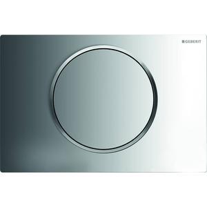 Geberit Sigma 10 drukplaat 1-knop tbv UP720/UP320 chroom/mat-chroom/mat-chroom