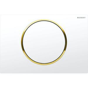 Geberit Sigma 10 drukplaat 1-knop tbv UP720/UP320 glans wit/goud/wit