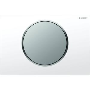 Geberit Sigma 10 drukplaat 1-knop tbv UP720/UP320 glans-wit/mat-chroom/mat-chroom