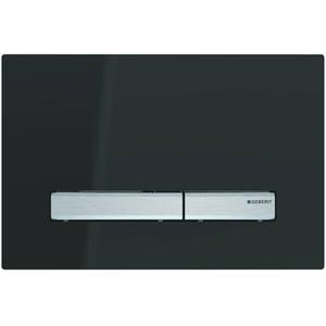 Geberit Sigma 50 drukplaat 2-knops tbv UP720/UP320 cm glans zwart/aluminium