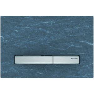 Geberit Sigma 50 drukplaat 2-knops tbv UP720/UP320 schiefer/aluminium