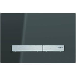 Geberit Sigma 50 drukplaat 2-knops tbv UP720/UP320 spiegelend rookglas/aluminium