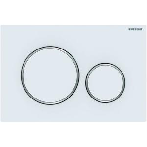 Geberit Sigma 20 drukplaat 2-knops tbv UP720/UP320 mat wit/chroom/mat wit