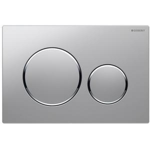 Geberit Sigma 20 drukplaat 2-knops tbv UP720/UP320 mat chroom/chroom/mat chroom