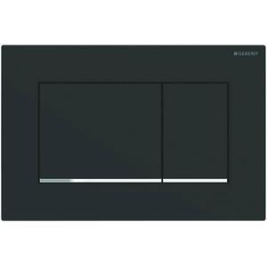 Geberit Sigma 30 drukplaat 2-knops tbv UP720/UP320 mat zwart/chroom