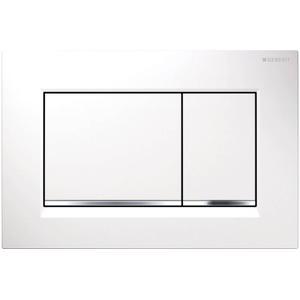 Geberit Sigma 30 drukplaat 2-knops tbv UP720/UP320 glans wit/glansverchroomd/wit