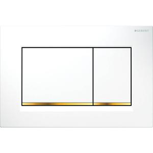 Geberit Sigma 30 drukplaat 2-knops tbv UP720/UP320 glans wit/goudeffect/wit