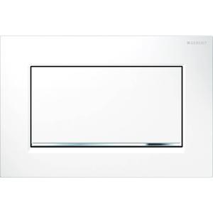 Geberit Sigma 30 drukplaat 1-knop tbv UP720/UP320 glans wit/mat-chroom/wit