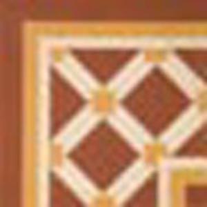 Decortegel Mirafloor Piavi 20x20x- cm Rood Oker Offwhite 0,48 M2