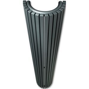 Vasco Carré Halfrond designradiator 140x35cm 1225W Stof Grijs