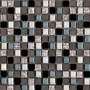 Mozaïek L'Antic Imperia 29,8x29,8x0,8 cm Silver Blue Black 1 ST