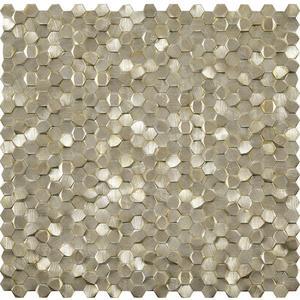Mozaïek L'Antic Gravity 31x31 cm aluminium hexagon gold 1 ST