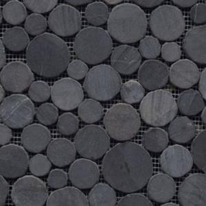 Mozaïek L'Antic Paradise 31x31x1 cm Round Stone Negro 1ST