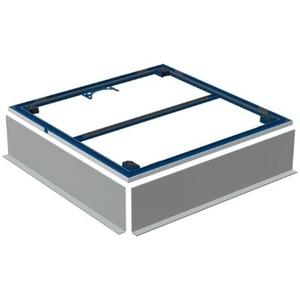Geberit Setaplano Frame/Poten 80x80 cm Blauw