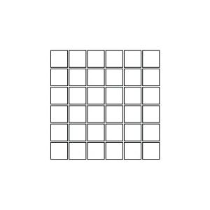Mozaïek Coem REVERSO 30x30x1 cm Avorio 0,99M2