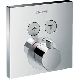 Hansgrohe Showerselect afdekset douchethermostaat met 2 stopfuncties Chroom