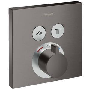Hansgrohe ShowerSelect Thermostaat Afbouwdeel voor 2 Functies Brushed Black Chroom