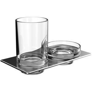 Emco Art Glas- en zeephouder Chroom
