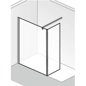 HSK Walk-In Atelier Inloopdouche met vast zijpaneel 90+30x200cm Chroom/Helder glas