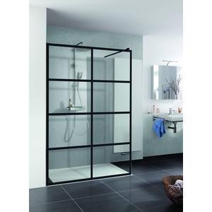 HSK Walk In Pro inloopdouche Loft 3 120x200 cm helder glas mat zwart