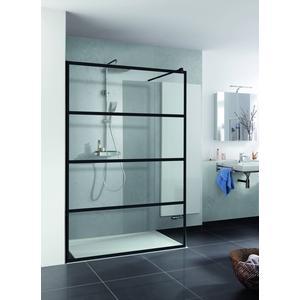 Saqu Walk In Loft 2 inloopdouche 120x200cm helder glas/mat zwart