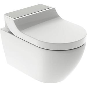 Geberit AquaClean Tuma Comfortset wandcloset + zitting 35x55x28 cm decorplaat RVS