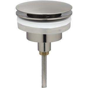 Ben Wastafelplug altijd open 5/4 inch Geborsteld Nickel