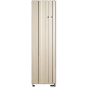 Vasco Viola Verticaal V1L1-ZB designradiator as=0018 140x36cm 801W Platina Grijs