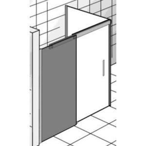 Ben Futura Schuifdeur met zijwand 140x90x200 cm Grijs Glas/Chroom